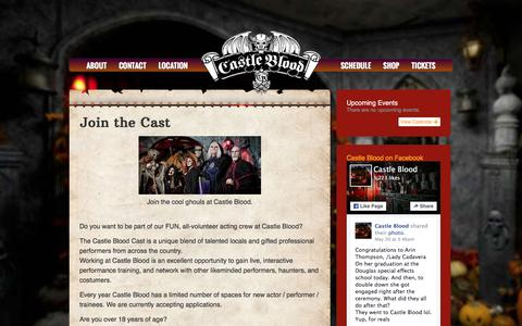 Screenshot of Signup Page castleblood.com - Join the Cast - Castle Blood - captured May 22, 2016