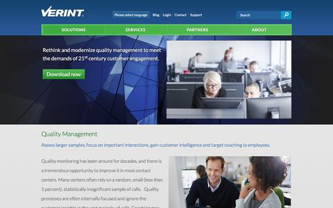 Quality Management - Workforce Optimization | Verint Systems