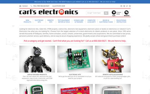 Screenshot of Home Page electronickits.com - Home | Carl's Electronics - captured June 17, 2015