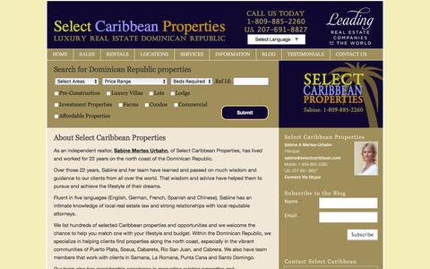 Screenshot of About Page selectcaribbean.com - Select Caribbean Properties | Dominican Republic Real Estate Agency - captured June 30, 2017