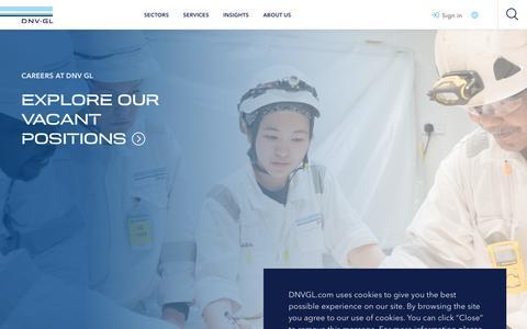 Screenshot of Jobs Page dnvgl.com - Careers in DNV GL - DNV GL - captured June 4, 2019