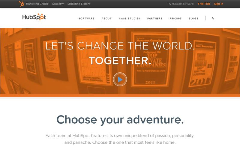 Screenshot HubSpot Careers
