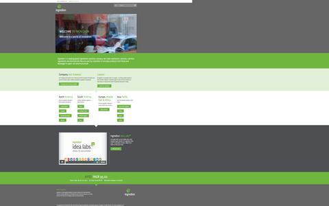 Screenshot of Home Page ingredion.com - Ingredion Incorporated - captured Dec. 12, 2015