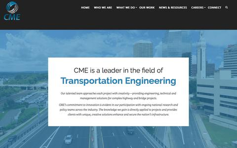 Screenshot of Team Page cmeengineering.com - Who We Are - CME Associates, Inc. - captured July 16, 2019