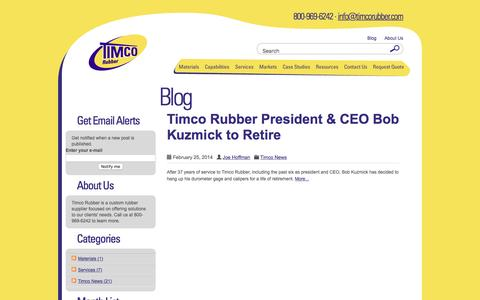 Screenshot of Blog timcorubber.com - Timco Rubber |  All posts tagged  'timco ceo' - captured Oct. 21, 2016