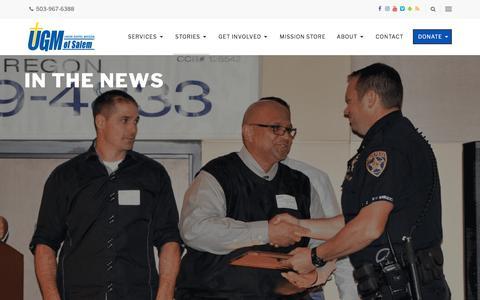 Screenshot of Press Page ugmsalem.org - In The News - Union Gospel Mission - captured Oct. 24, 2017
