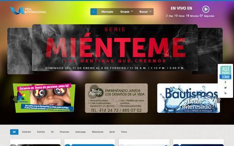 Screenshot of Home Page vidainternacional.org - Vida Internacional - captured Feb. 6, 2015