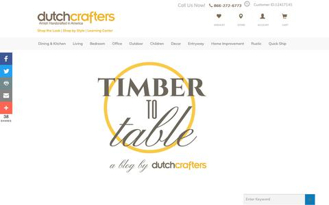Screenshot of Blog dutchcrafters.com - TIMBER TO TABLE - a blog by DutchCrafters - captured March 22, 2019