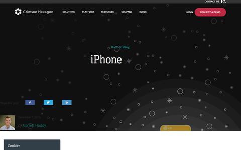 iPhone – Crimson Hexagon
