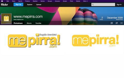 Screenshot of Flickr Page flickr.com - Flickr: www.mepirra.com's Photostream - captured Oct. 26, 2014