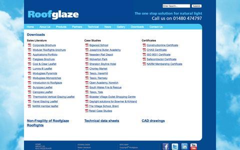 Screenshot of Case Studies Page roofglaze.co.uk - Downloads - captured Oct. 1, 2014