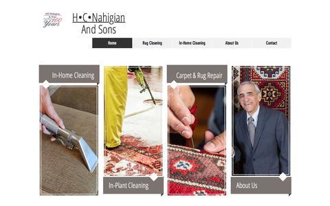 Screenshot of Home Page hcnahigian.com - H.C. Nahigian - captured Sept. 25, 2018