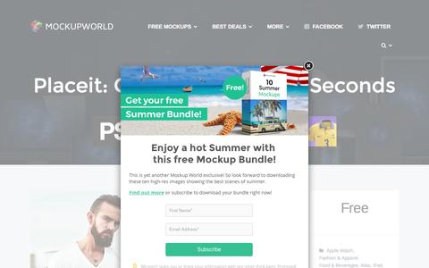 Screenshot of mockupworld.co - Placeit: Create Mockups in Seconds | MockupWorld - captured Sept. 3, 2016