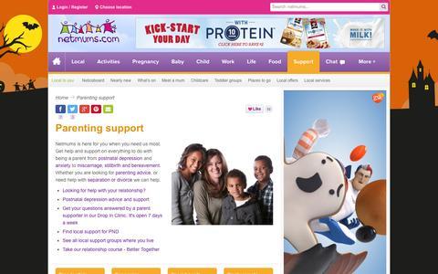 Screenshot of Support Page netmums.com - Support for parents - Netmums - captured Oct. 26, 2014