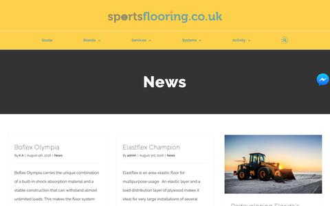 Screenshot of Press Page sportsflooring.co.uk - News Archives - Sports Flooring - captured Oct. 18, 2018