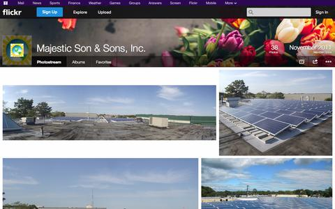 Screenshot of Flickr Page flickr.com - Flickr: Majestic Son & Sons, Inc.'s Photostream - captured Oct. 23, 2014