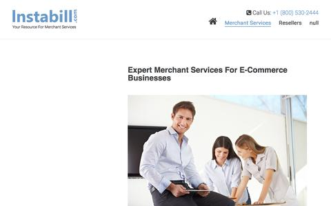 Screenshot of Services Page instabill.com - Merchant Services Account | Credit Card Processing | Payment Gateway | Instabill - captured Sept. 22, 2018