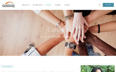 Screenshot of Jobs Page gway.org - Careers - Gateway - captured Sept. 27, 2018