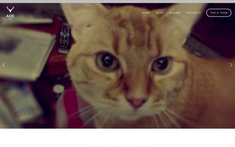Screenshot of Home Page aaronkdouglas.com - Creative Producer - captured Oct. 4, 2014