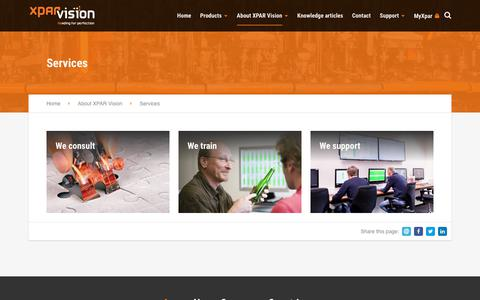 Screenshot of Services Page xparvision.com - Services › Xpar Vision - captured Oct. 18, 2018