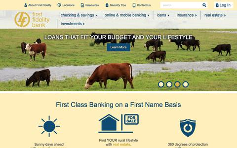 Screenshot of Home Page ffb-sd.com - First Fidelity Bank Home | We know about Neighborhood Banking - captured June 30, 2017
