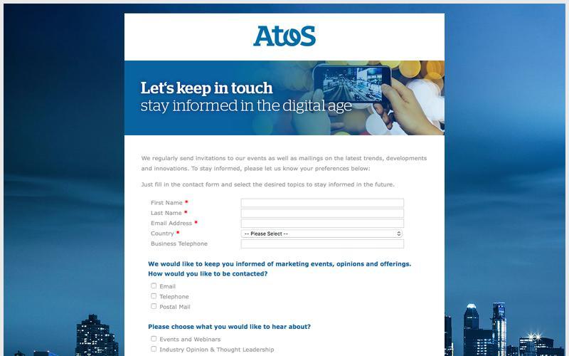 Atos Preferences Page