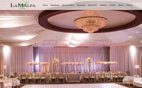 Screenshot of Home Page lamalfa.com - LaMalfa | Event Planner & Banquet Hall Cleveland - captured July 2, 2018