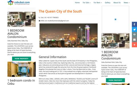 Screenshot of Press Page cebubai.com - cebu real estate news | News | CebuBai - captured Sept. 30, 2018