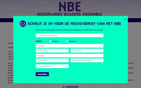 Screenshot of Privacy Page nbe.nl - privacy statement | Nederlands Blazers Ensemble - captured Oct. 19, 2018