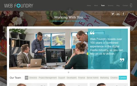 Screenshot of Team Page web-foundry.co.uk - experienced Joomla designers and developers | Web Foundry - captured Jan. 12, 2016