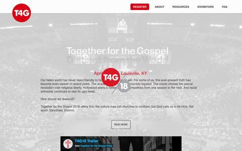Together for the Gospel 2018 - April 11-13, Louisville, KY : Together for the Gospel