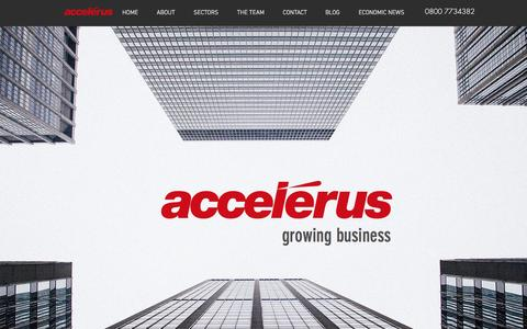 Screenshot of Home Page accelerus.net - Business growth experts - captured Nov. 20, 2016