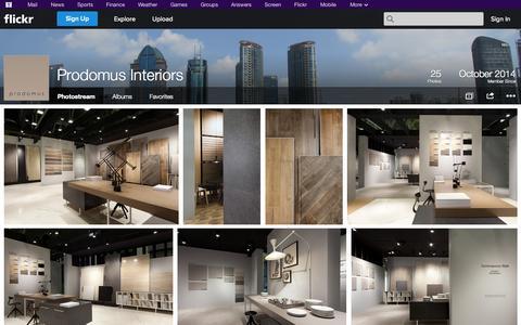 Screenshot of Flickr Page flickr.com - Flickr: Prodomus Interiors' Photostream - captured Nov. 2, 2014