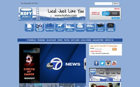 Screenshot of Home Page kofytv.com - Home - captured Nov. 6, 2018