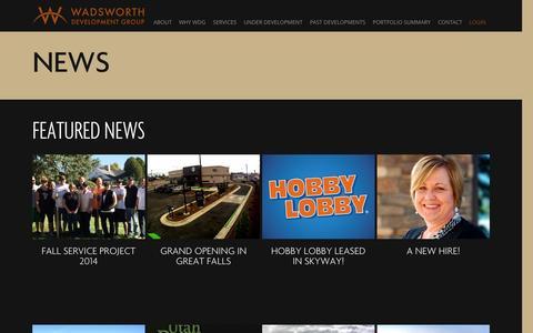 Screenshot of Press Page wadsdev.com - News | Wadsworth - captured Oct. 27, 2014