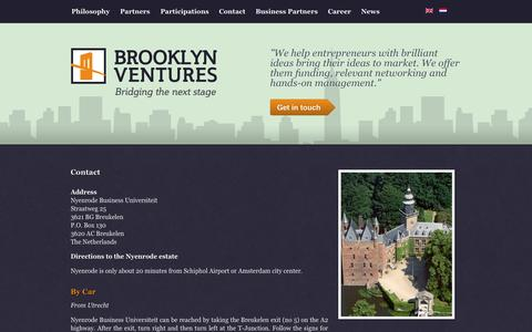 Screenshot of Contact Page brooklyn-ventures.com - Contact | Brooklyn Ventures - captured Sept. 30, 2014