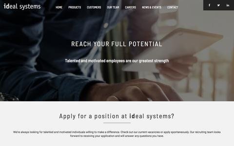 Screenshot of Jobs Page idealsystems.be - Careers - ideal systems - captured Sept. 20, 2018