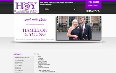 Screenshot of Site Map Page hamiltonandyoung.co.uk - Sitemap - captured Oct. 22, 2014