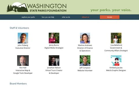 Screenshot of Team Page waparks.org - Our Team | Washington State Parks Foundation - captured July 3, 2018