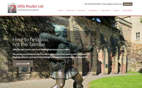 Screenshot of Home Page ip-online.biz - Accountants in Nottingham : Iliffe Poulter Ltd - captured Oct. 13, 2018