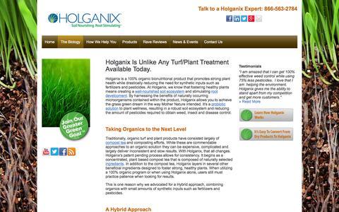 Screenshot of holganix.com - Holganix - Holganix is unlike any lawn treatment available - captured March 19, 2016