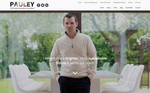 Screenshot of Home Page philpauley.com - Phil Pauley - Sustainability - Futurology - Singularity - captured Sept. 21, 2015