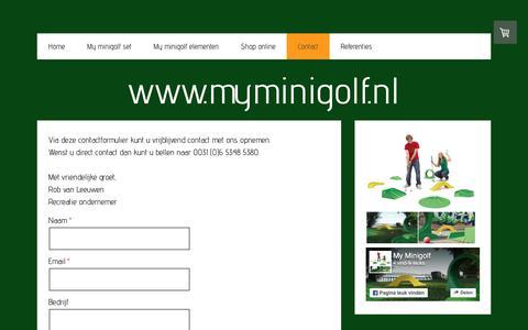 Screenshot of Contact Page myminigolf.nl - Contact - www.myminigolf.nl - captured Nov. 11, 2017