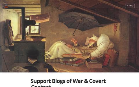 Screenshot of Support Page blogsofwar.com - Support Blogs of War & Covert Contact - captured June 1, 2017