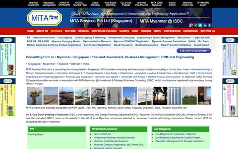 Screenshot of Services Page mitaservices.com.sg - Consulting Firm in Myanmar Singapore Thailand | Management Engineering|MiTA: Management Consulting, Investment Advisory, Engineering Services - captured Nov. 28, 2016