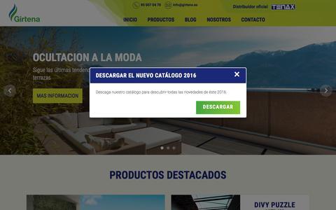 Screenshot of Home Page girtena.es - Girtena | - captured Nov. 7, 2016
