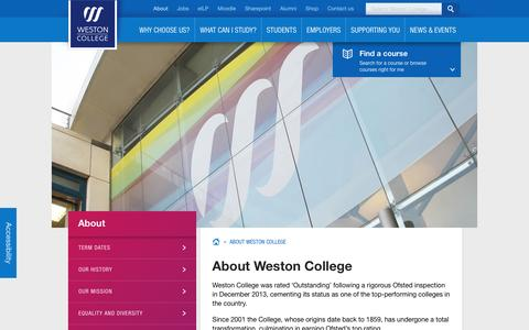 Screenshot of About Page weston.ac.uk - About Weston College | Weston College - captured Feb. 8, 2016