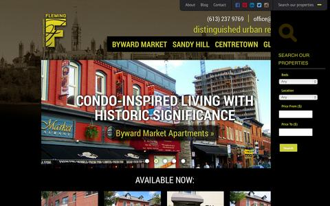 Screenshot of Home Page fpm.ca - Downtown Ottawa Apartment Rentals | Character Rich Buildings | FPM - captured Oct. 6, 2014