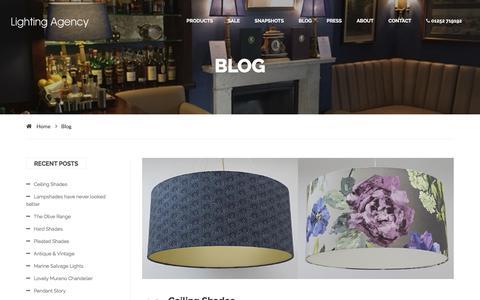 Screenshot of Blog lightingagency.co.uk - Lighting Agency | Blog - captured July 19, 2018
