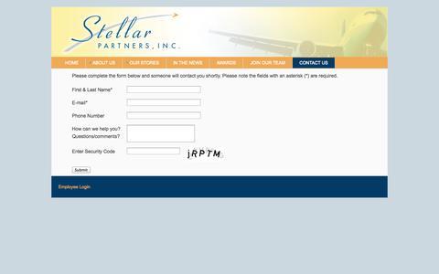Screenshot of Contact Page stellarairportstores.com - Contact Us - captured Oct. 7, 2014